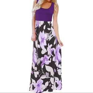 Beautiful floral maxi dress size med